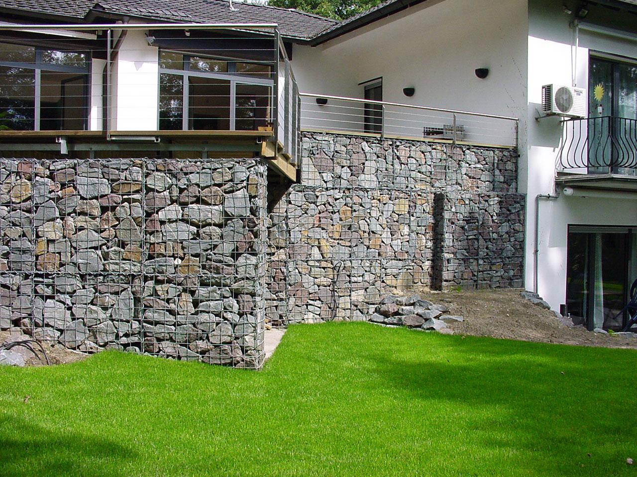 Hangsicherung Gabionen Mauern